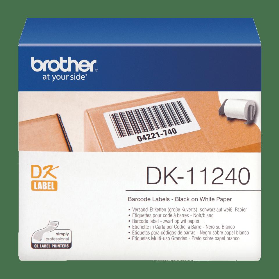 Rouleau d'étiquettes DK-11240 Brother original – Noir sur blanc, 102x 51mm 0