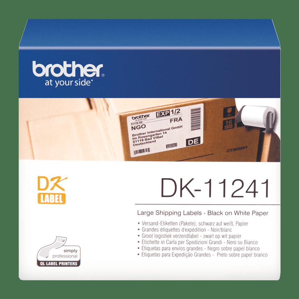 Rouleau d'étiquettes d'expédition DK-11241 Brother original – Noir sur blanc, 102x152mm 0