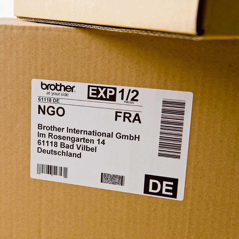Rouleau d'étiquettes d'expédition DK-11241 Brother original – Noir sur blanc, 102x152mm 1