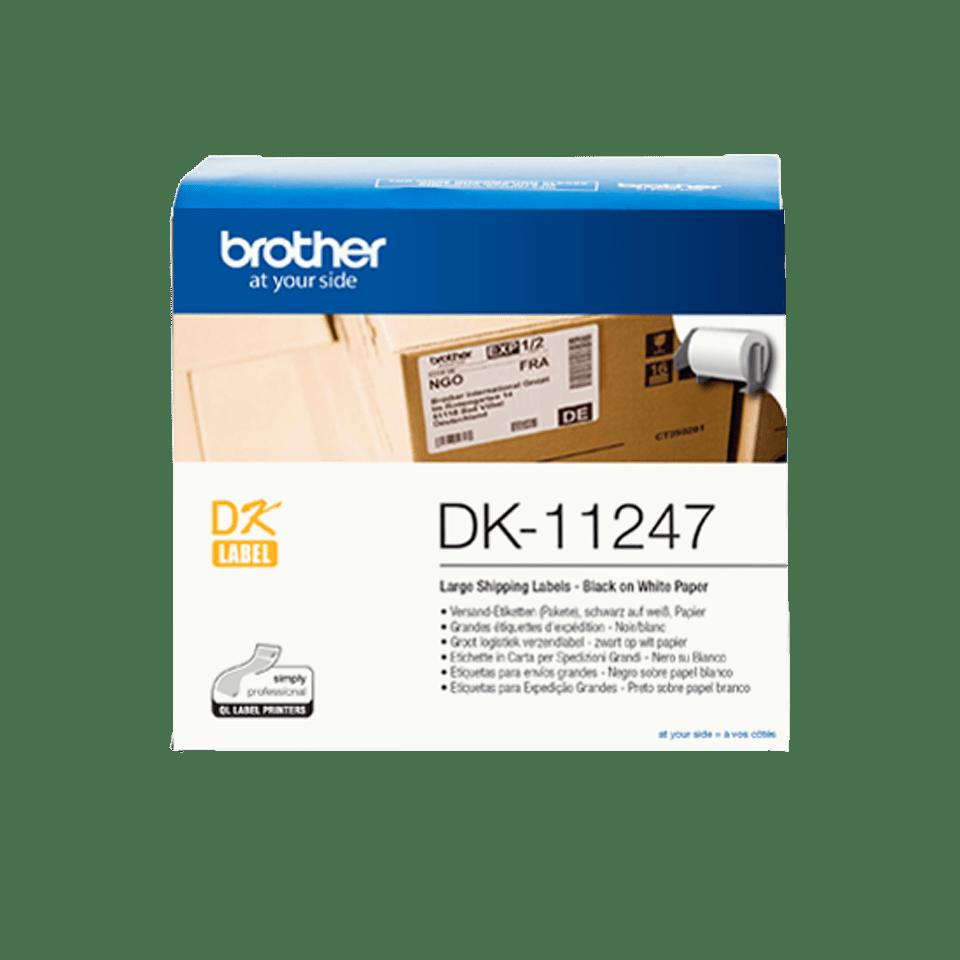 Rouleau de papier continu DK-11247 Brother original – Noir sur blanc 103mm x 164 mm