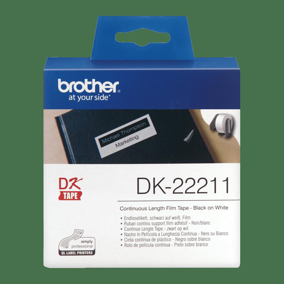 Rouleau d'étiquettes DK-22211 Brother original – Blanc, 29mmx15,24m  0