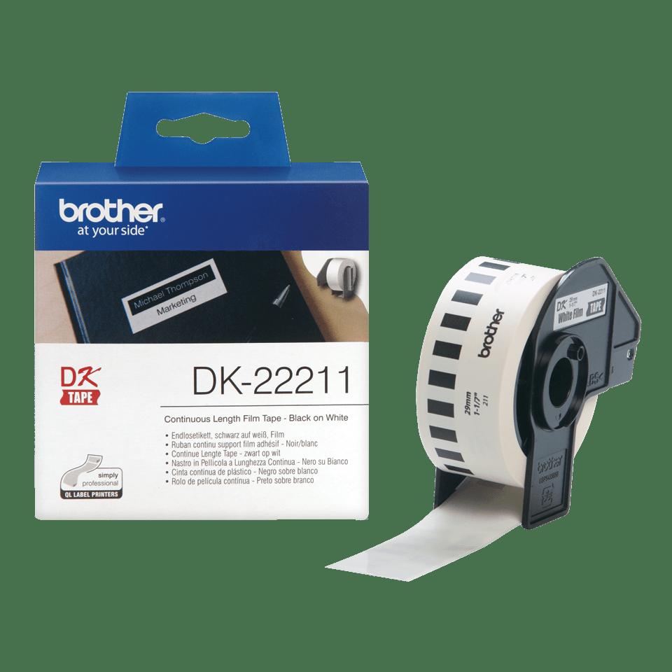 Rouleau d'étiquettes DK-22211 Brother original – Blanc, 29mmx15,24m  2