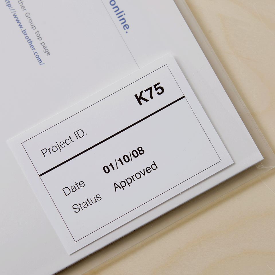 Rouleau de film continu DK-22212 Brother original – Noir sur blanc, 62mm 2