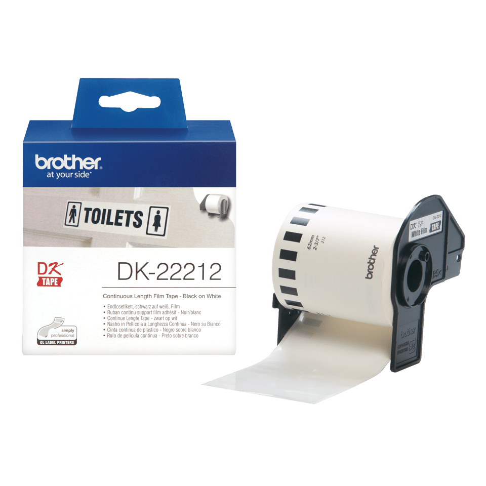 Rouleau de film continu DK-22212 Brother original – Noir sur blanc, 62 mm 3