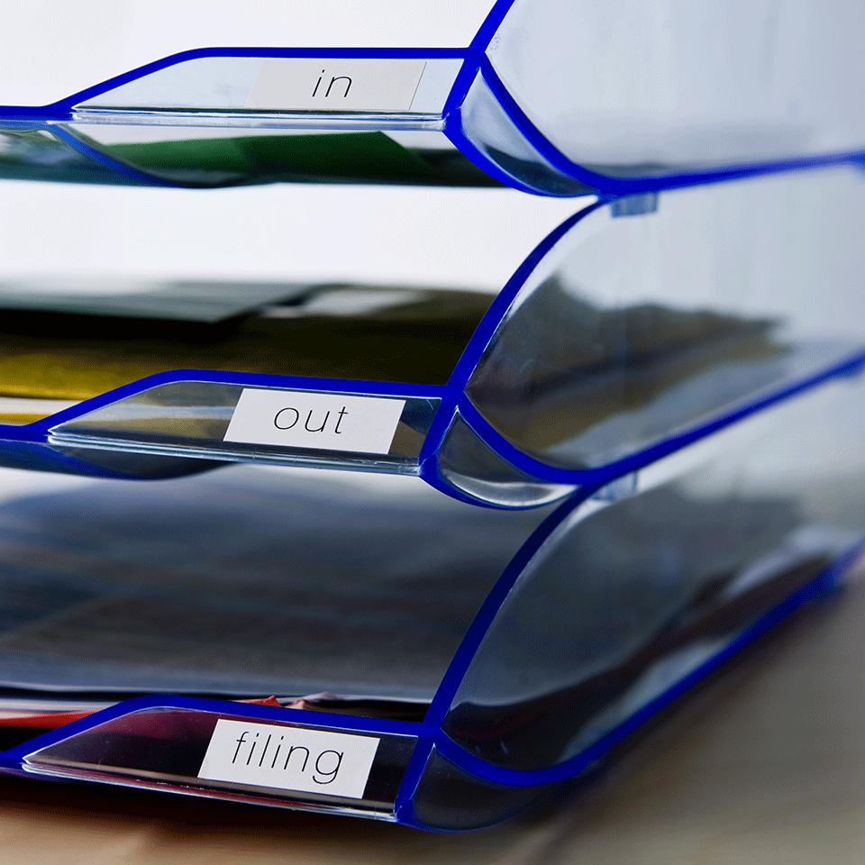 Rouleau de papier continu DK-22214 Brother original – Noir sur blanc, 12mm de large 2