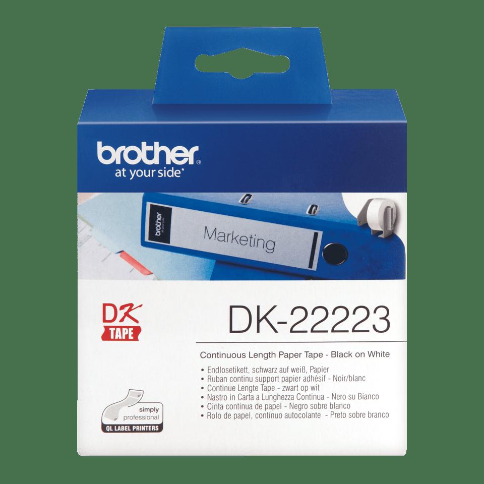 Rouleau de papier continu DK-22223 Brother original – Noir sur blanc, 50mm de large