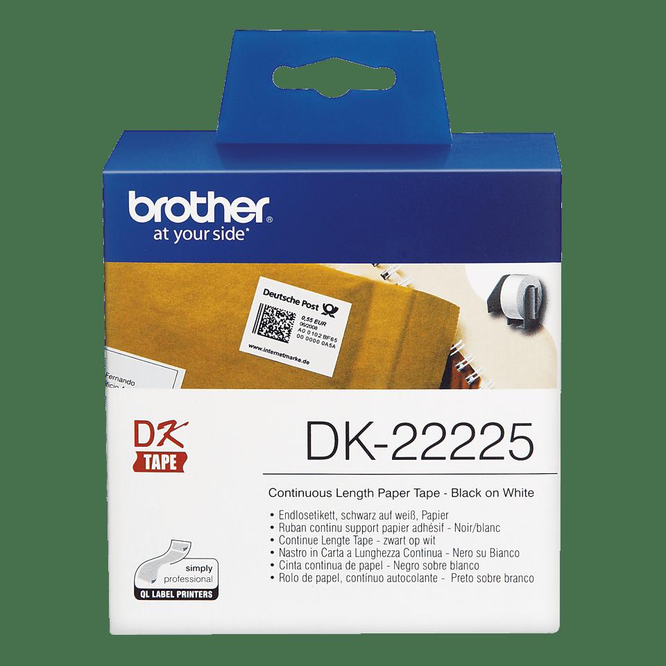Rouleau de papier continu DK-22225 Brother original – Noir sur blanc, 38mm de large 2
