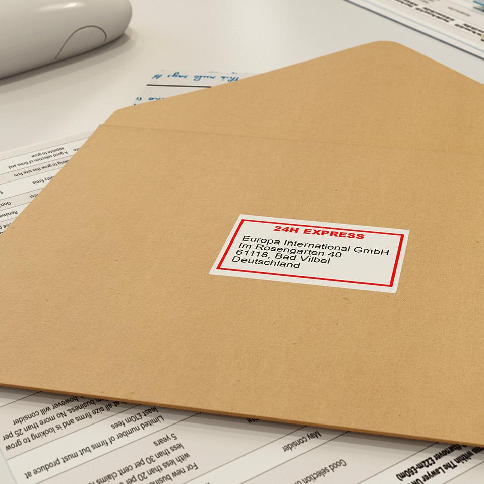 Rouleau de papier continu DK-22251 Brother original – Noir et rouge sur blanc, 62mm 2