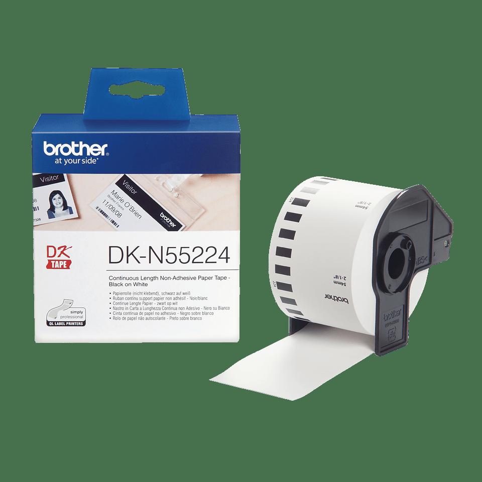 Rouleau de papier continu sans adhésif DK-N55224 Brother original – Noir sur blanc, 54mm 3