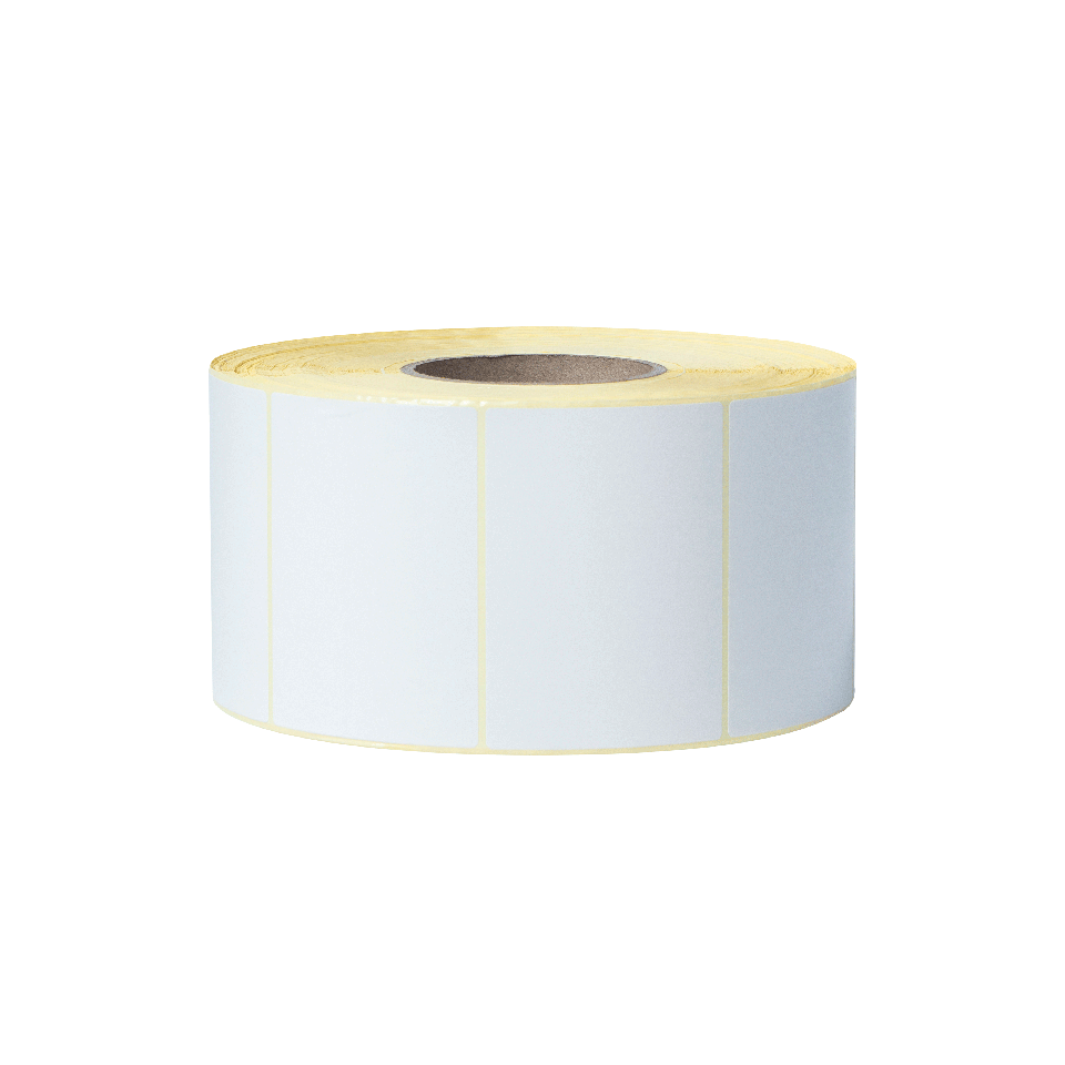 Uncoated Thermal Transfer Die-Cut White Label Roll BUS-1J074102-203 2