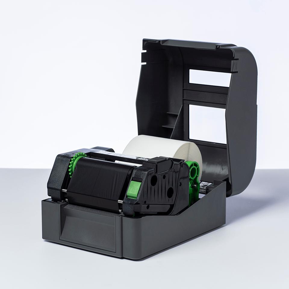 BSP-1D300-110 - Ruban encreur noir de cire / résine premium à transfert thermique 2