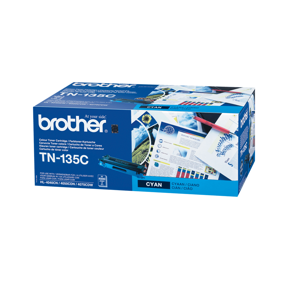 Cartouche de toner TN-135C Brother originale à haut rendement – Cyan
