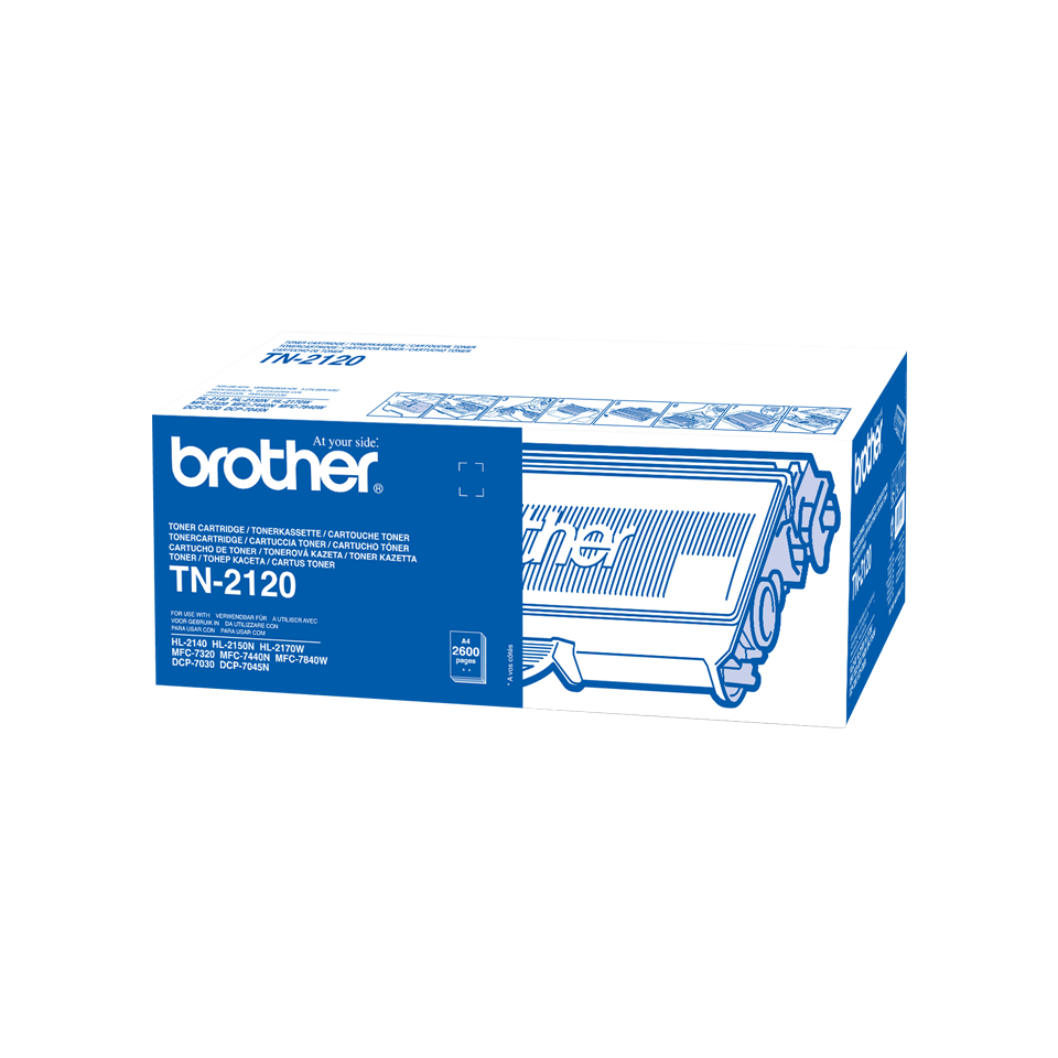 Cartouche de toner TN-2120 Brother originale à haut rendement – Noir