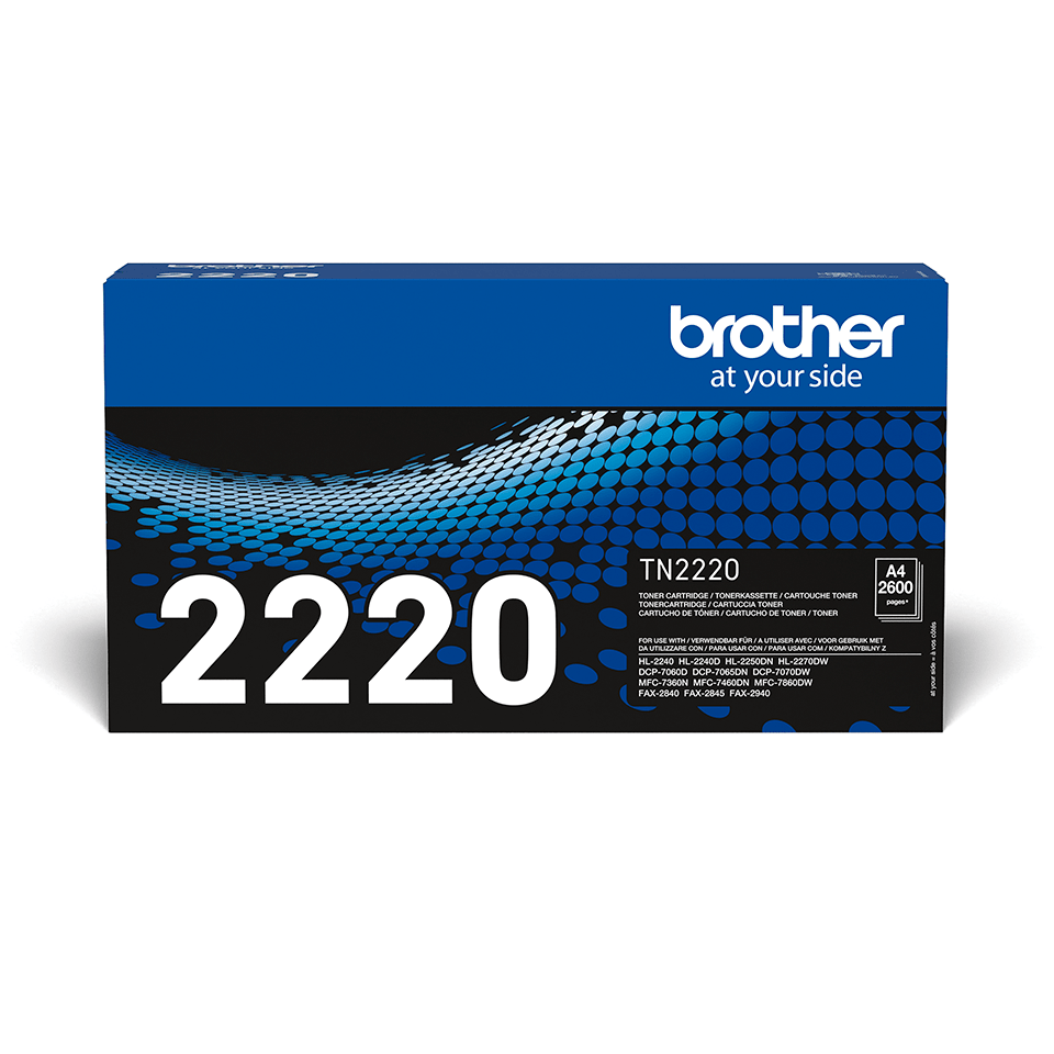 Cartouche de toner TN-2220 Brother originale à haut rendement – Noir