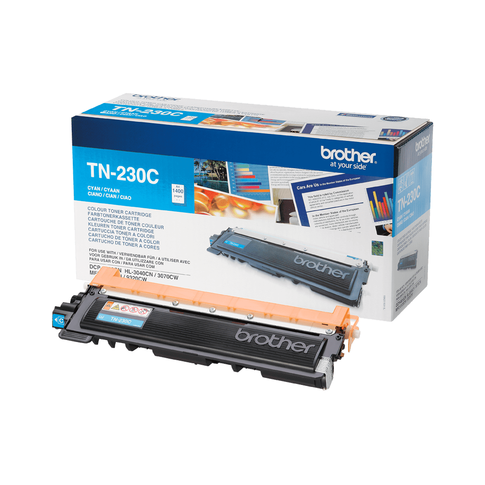 Cartouche de toner TN-230C Brother originale – Cyan 1