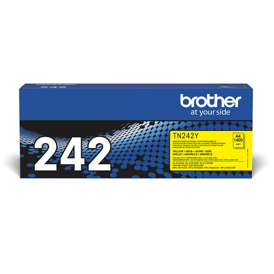 Cartouche de toner TN-242Y Brother originale – Jaune