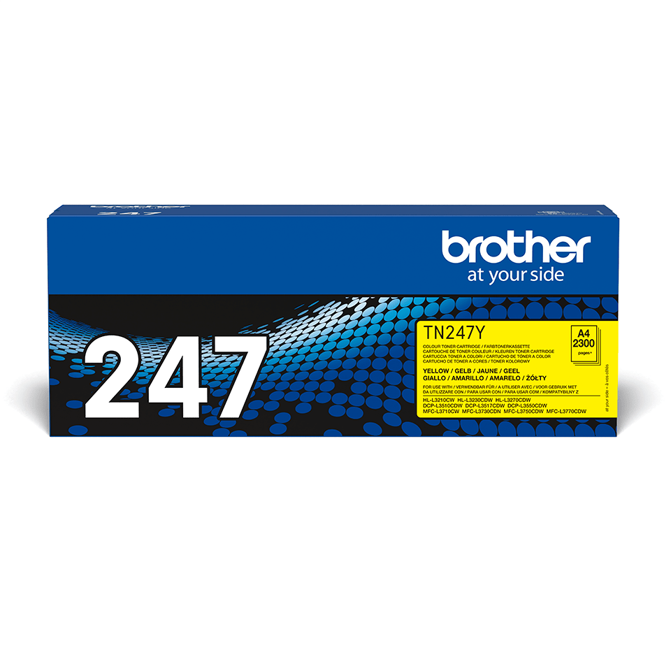 Cartouche de toner TN-247Y Brother originale – Jaune