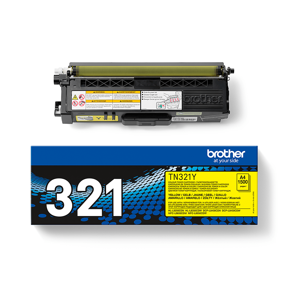 Cartouche de toner TN-321Y Brother originale – Jaune  2
