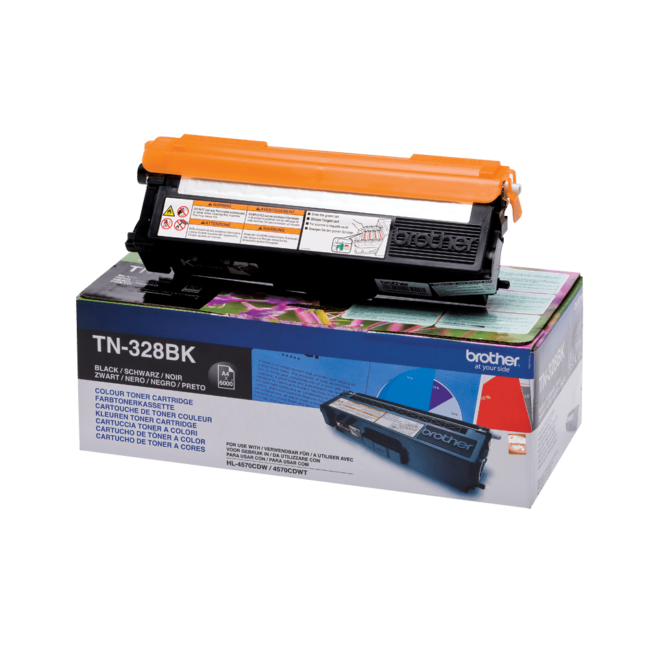 Cartouche de toner TN-328BK Brother originale – Noir
