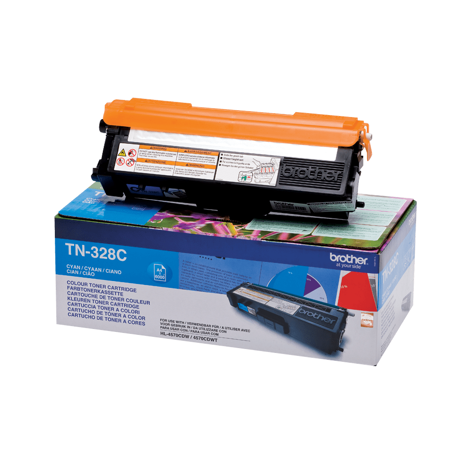 Cartouche de toner TN-328C Brother originale – Cyan
