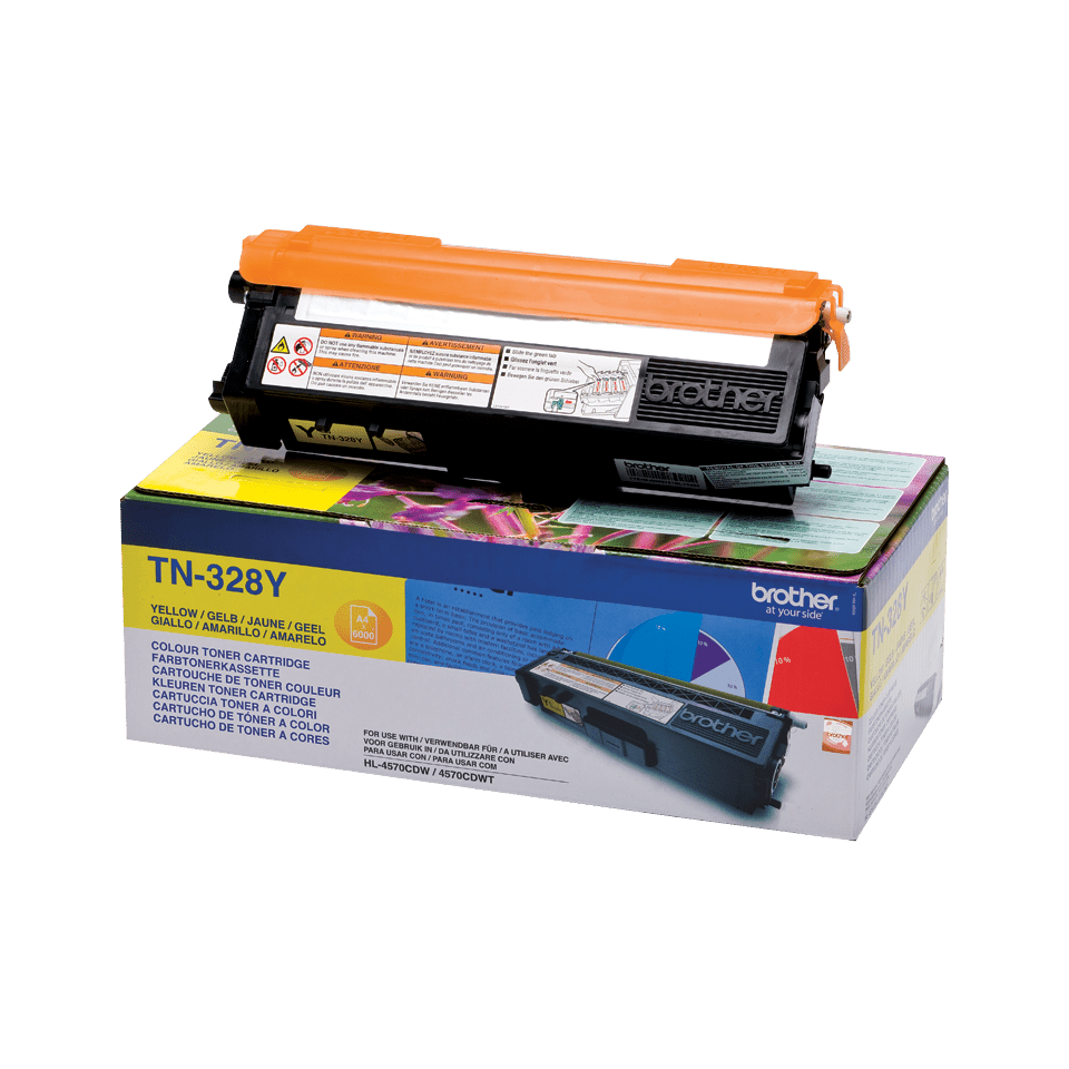 Cartouche de toner TN-328Y Brother originale – Jaune 2