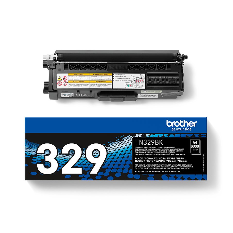 Cartouche de toner TN-329BK Brother originale – Noir 2