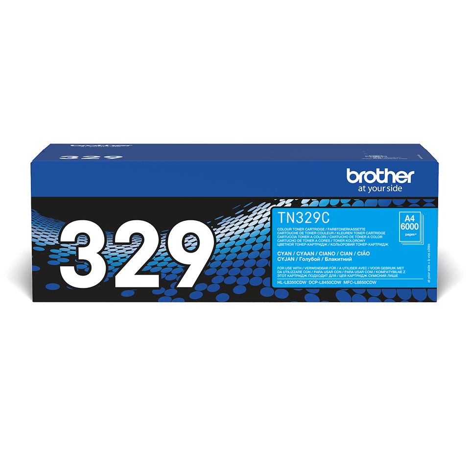 Cartouche de toner TN-329C Brother originale – Cyan
