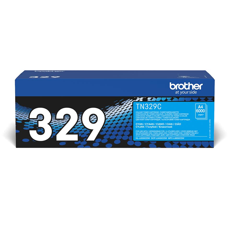 Cartouche de toner TN-329C Brother originale – Cyan 0