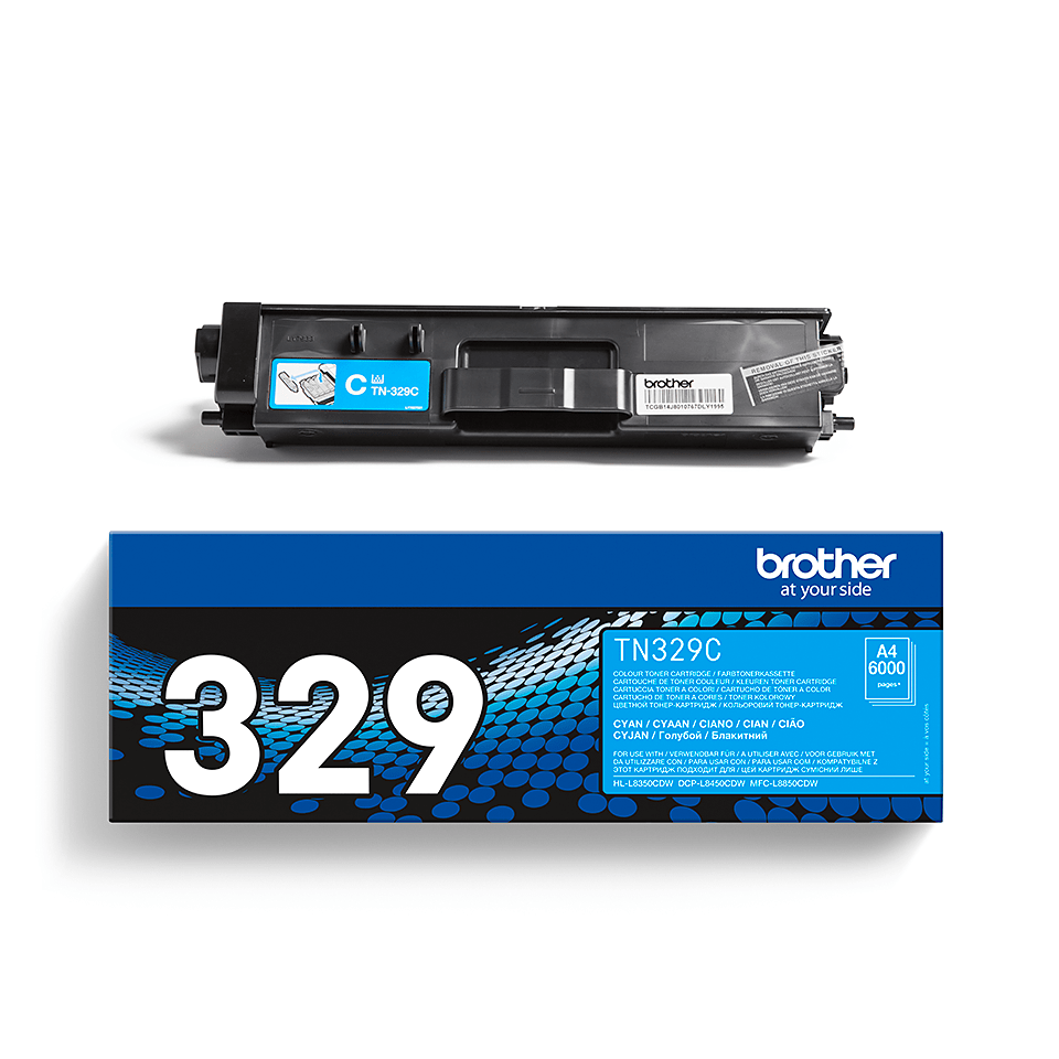 Cartouche de toner TN-329C Brother originale – Cyan 2