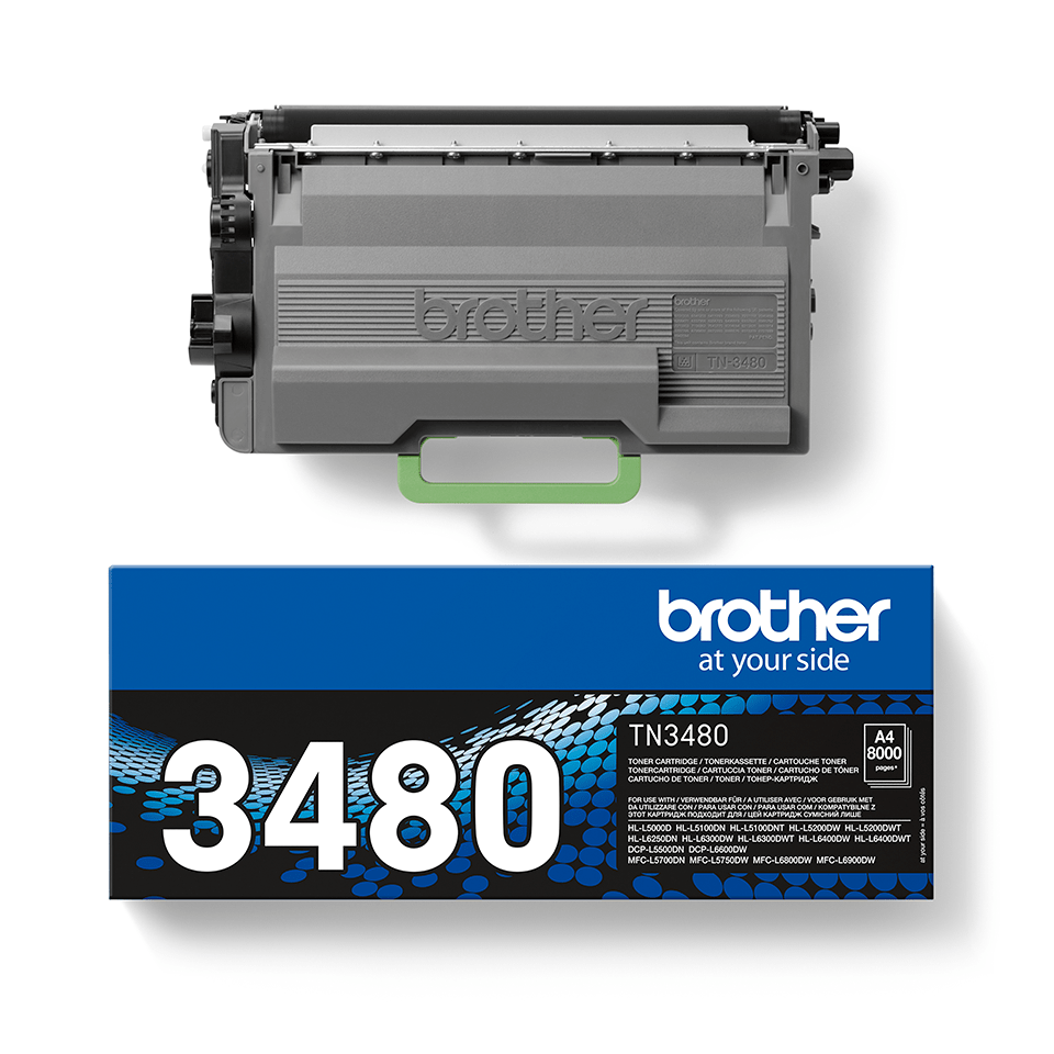 Cartouche de toner TN-3480 Brother originale – Noir 2