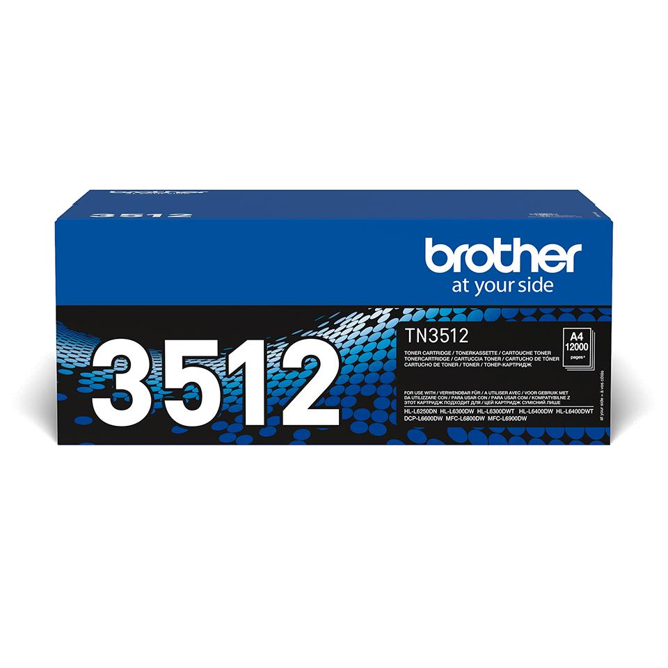 Cartouche de toner TN-3512 Brother originale à haut rendement – Noir