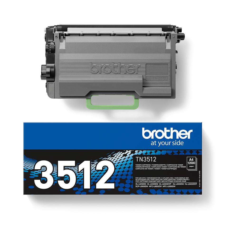 Cartouche de toner TN-3512 Brother originale à haut rendement – Noir 2