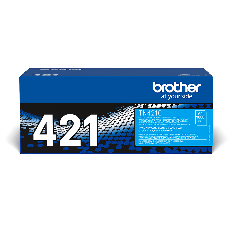Cartouche de toner TN-421C Brother originale – Cyan 1