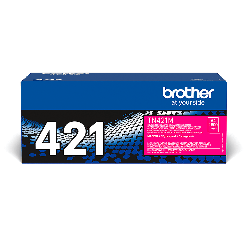 Cartouche de toner TN-421M Brother originale – Magenta