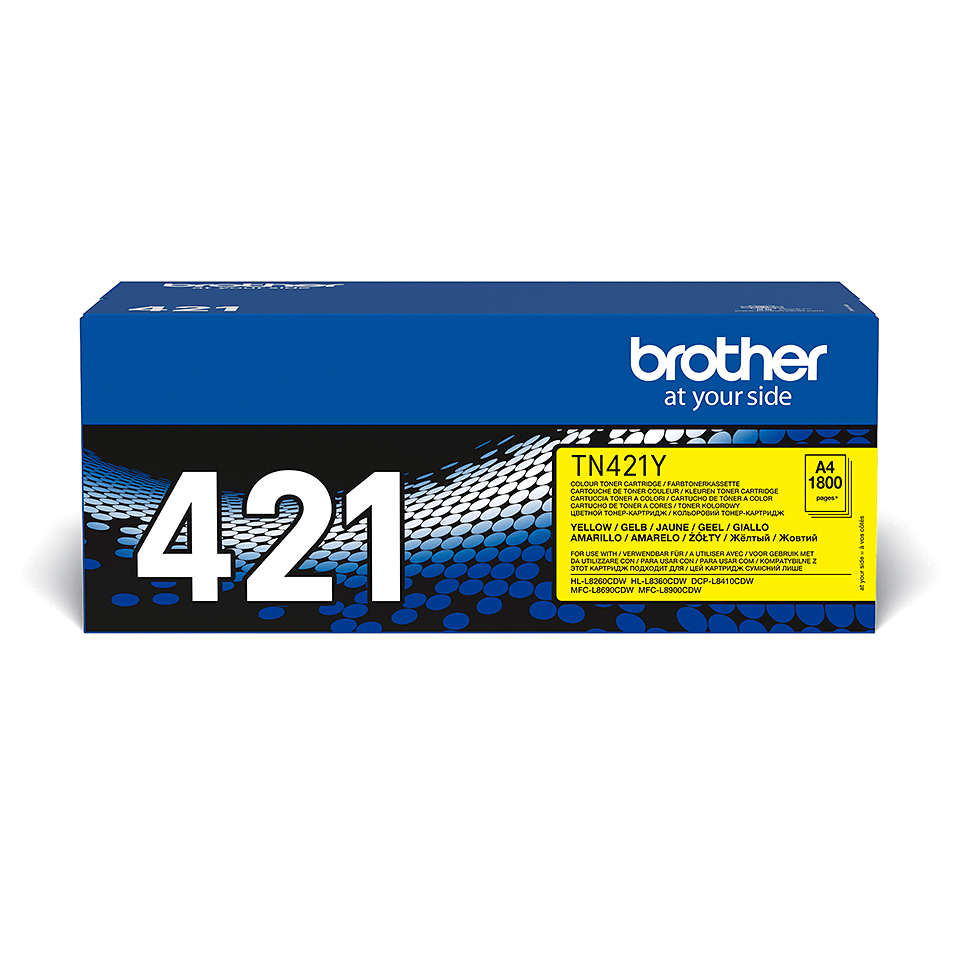 Cartouche de toner TN-421Y Brother originale – Jaune