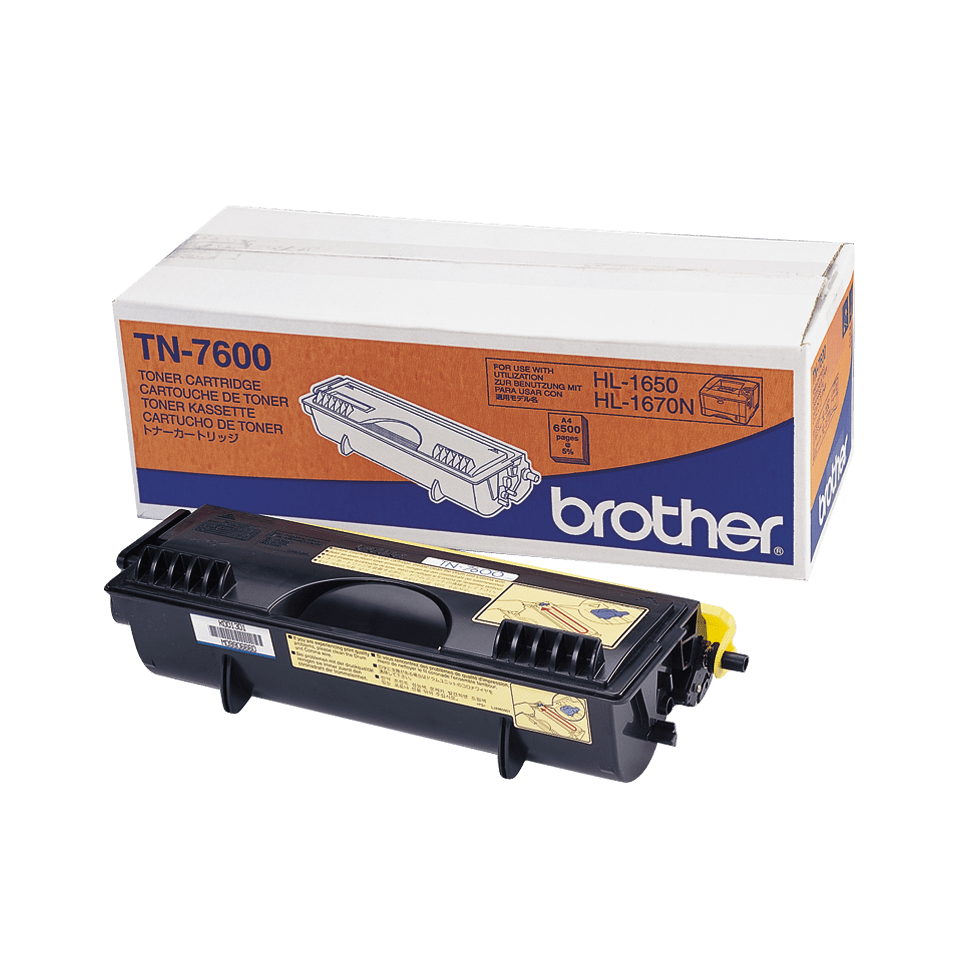 Cartouche de toner TN-7600 Brother originale à haut rendement – Noir