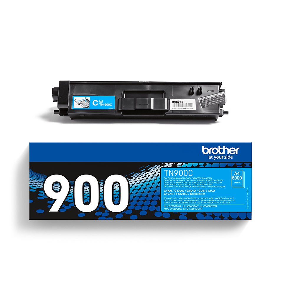 Cartouche de toner TN-900C Brother originale – Cyan 2