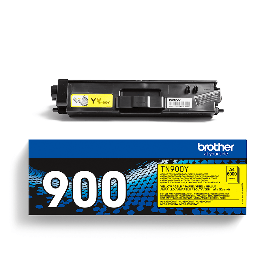 Cartouche de toner TN-900Y Brother originale – Jaune 2
