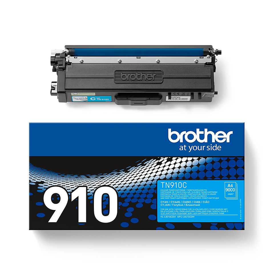 Cartouche de toner TN-910C Brother originale – Cyan 1