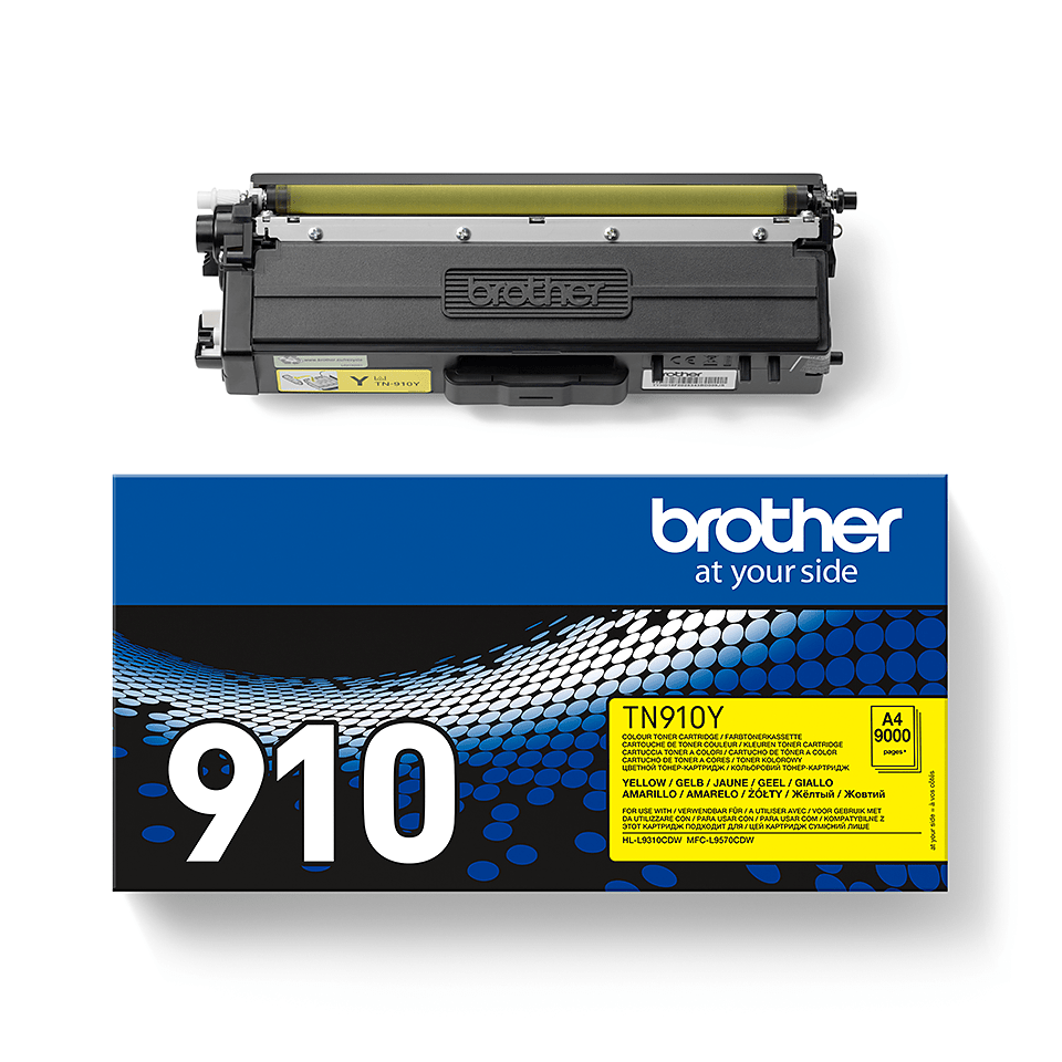 Cartouche de toner TN-910Y Brother originale – Jaune 2