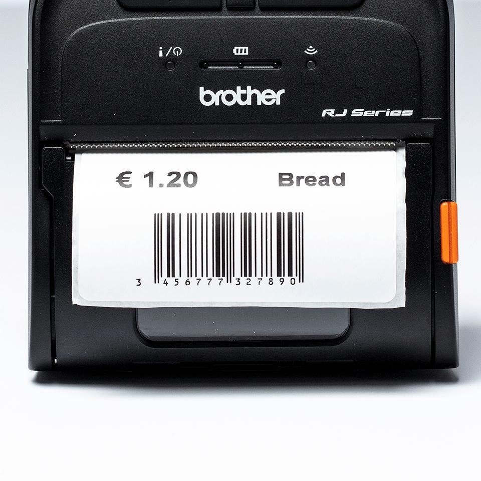 BDE-1J044076-040 - Rouleau d'étiquettes prédécoupées pour imprimante thermique mobile 3 pouces 4