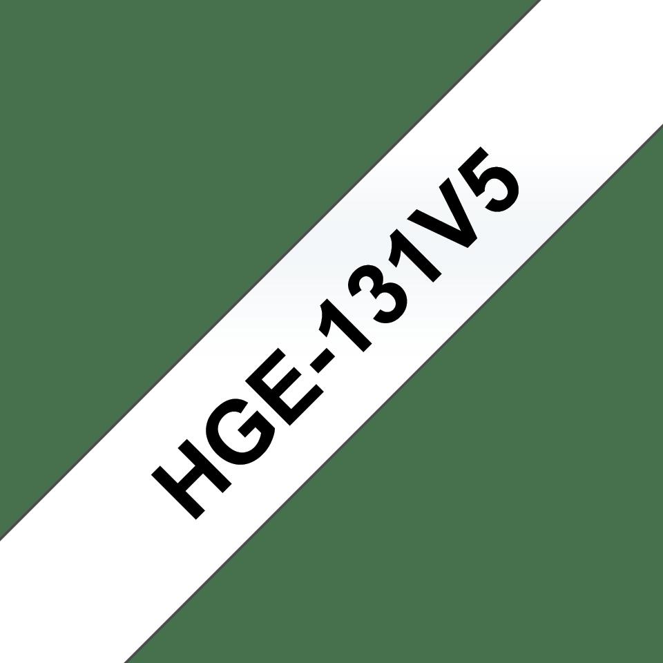 Cassette à ruban pour étiqueteuse HGe-131V5 Brother originale – Noir sur transparent, 12mm de large