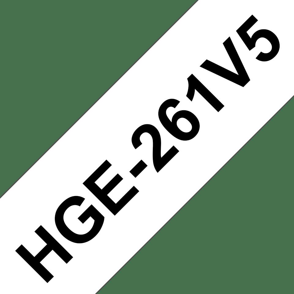Cassette à ruban pour étiqueteuse HGe-261V5 Brother originale – Noir sur blanc, 36mm de large