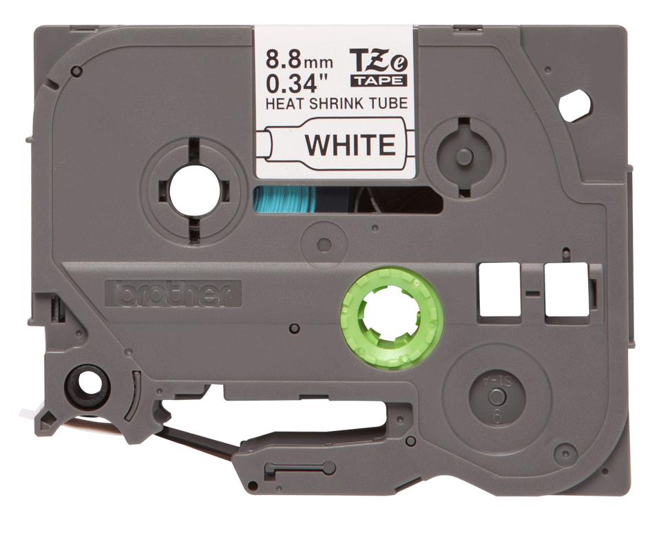 Cartouche à ruban pour gaine thermorétractable HSe-221 Brother originale – Noir sur blanc, 8,8mm. Ruban continu.