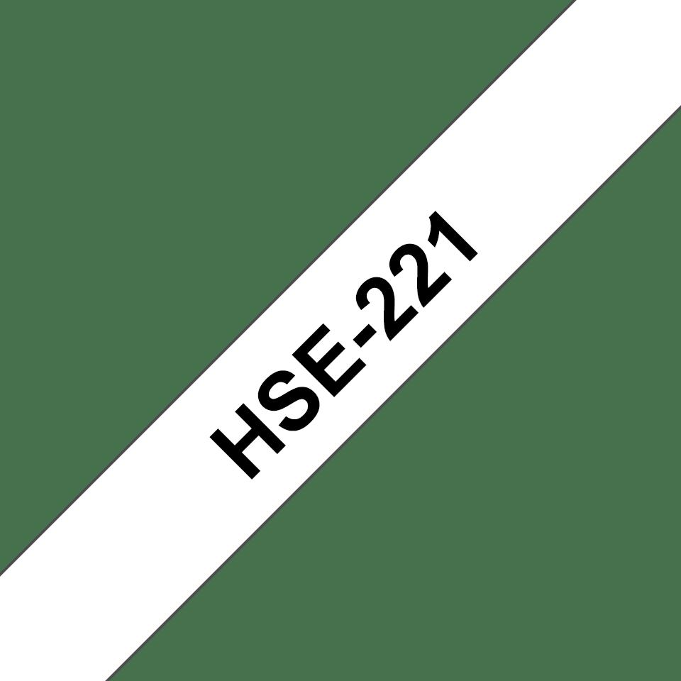 Cartouche à ruban pour gaine thermorétractable HSe-221 Brother originale – Noir sur blanc, 8,8mm. Ruban continu. 3