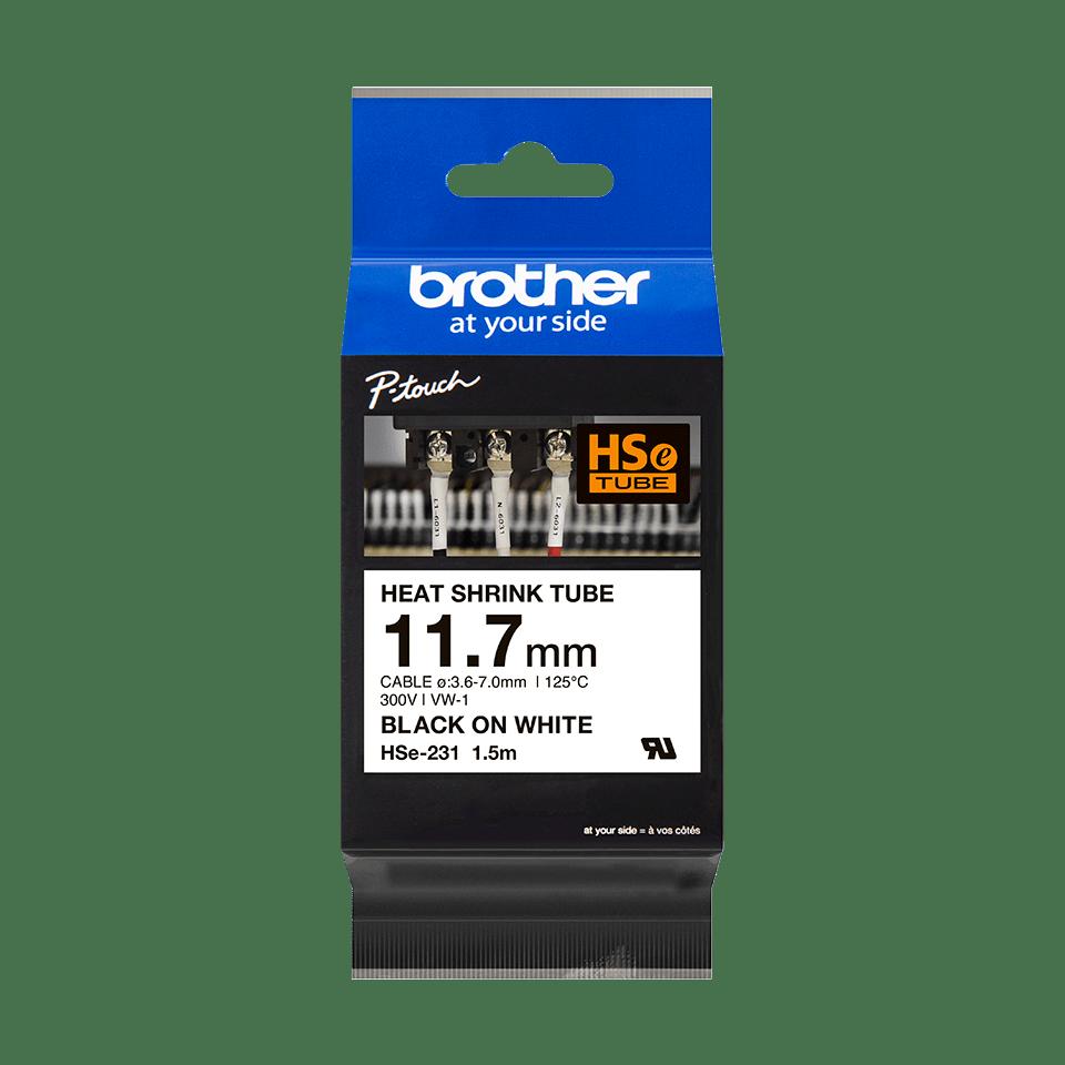 Cartouche pour gaine thermorétractable HSe-231 Brother originale – Noir sur blanc, 11,7mm de large 2