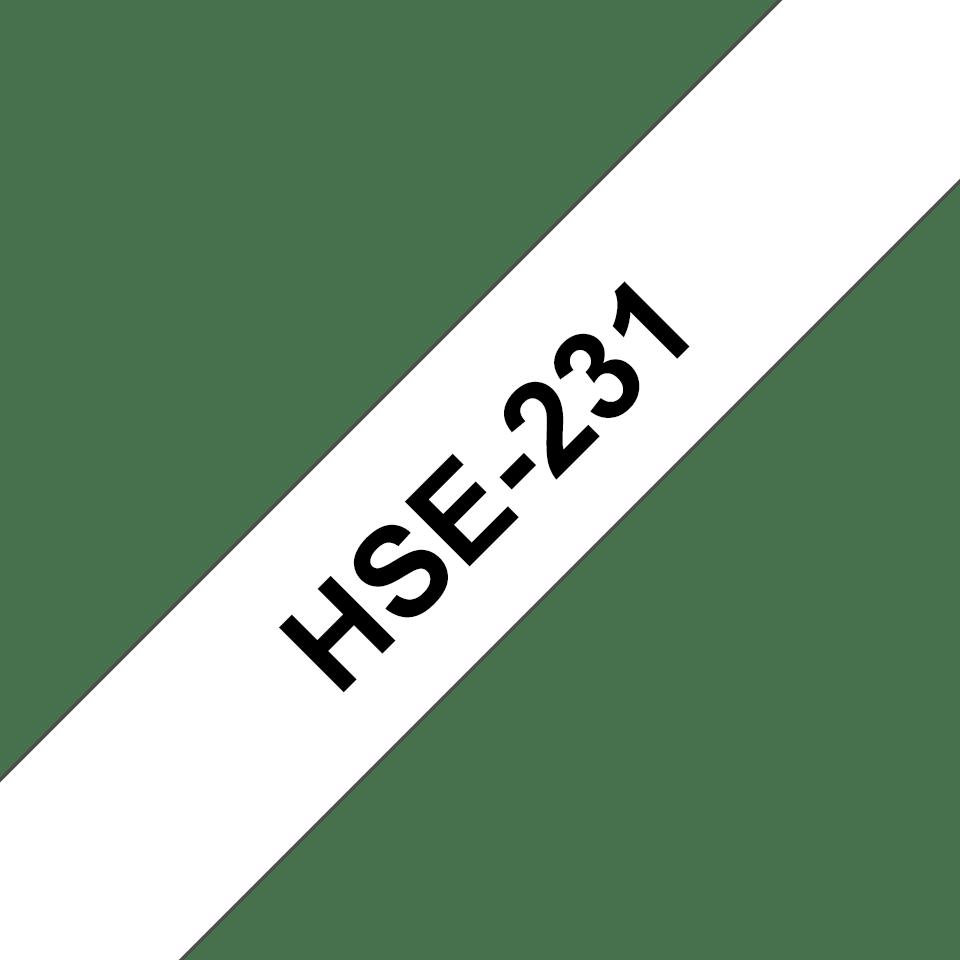 Cartouche pour gaine thermorétractable HSe-231 Brother originale – Noir sur blanc, 11,7mm de large 3