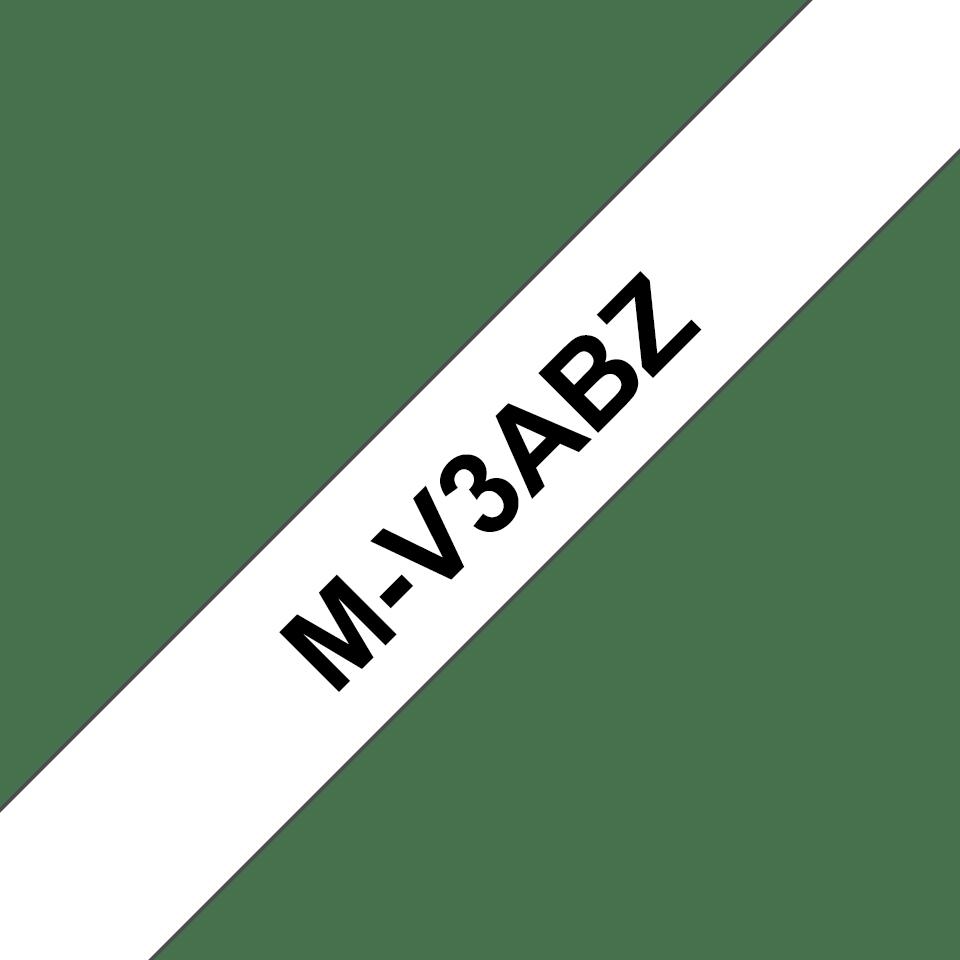 Pack de rubans pour étiqueteuse M-V3ABZ Brother original – Noir sur blanc 0