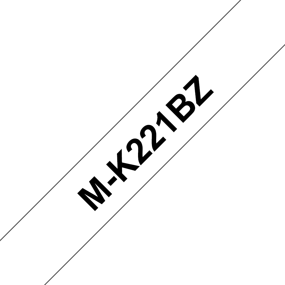 Cassette à ruban pour étiqueteuse M-K221BZ Brother originale – Noir sur blanc, 9mm de large