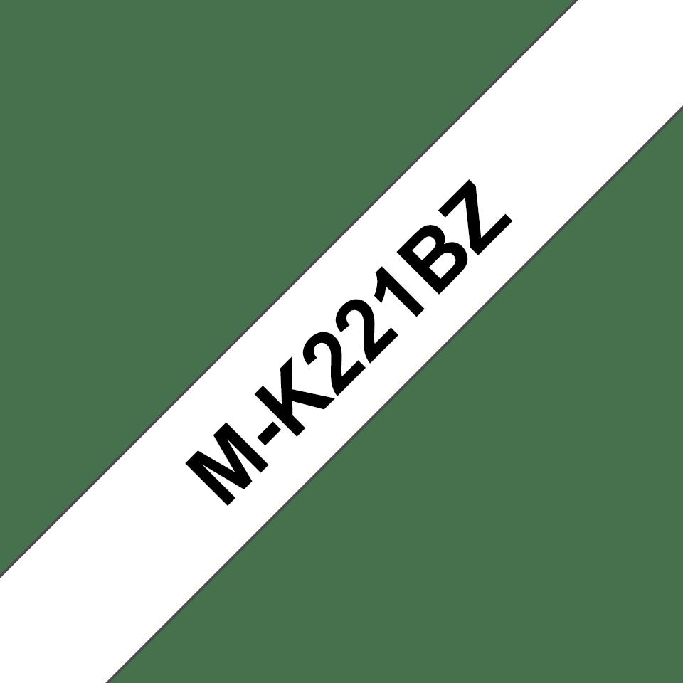 Cassette à ruban pour étiqueteuse M-K221BZ Brother originale – Noir sur blanc, 9mm de large 0